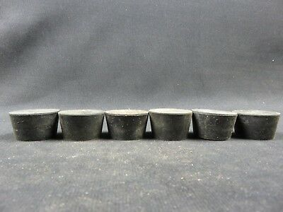 Size #8 rubber stoppers laboratory stoppers-tapered rubber stopper (lot of 6)