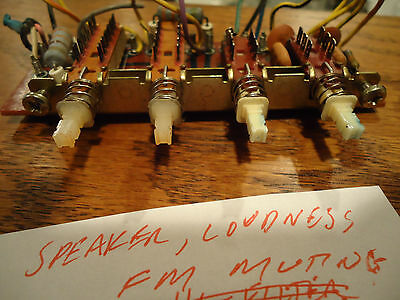 Marantz 2238 Stereo Receiver Parting Out Right Bank Switches + Board