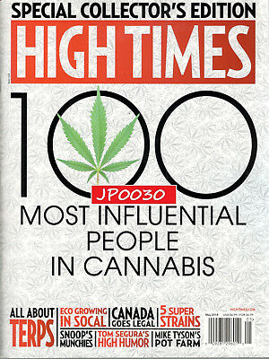 High Times May 2018, 100 Most Influential People In Cannabis, Brand New/Sealed
