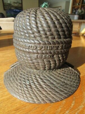Antique 1860 Cast Iron String Holder Butcher, Baker, General Store Rare Design