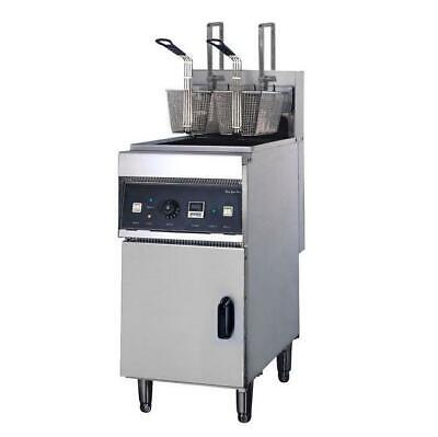 Deep Fryer Single 28L Vat, Fast with Cold Zone & Auto Lift, Commercial Equipment