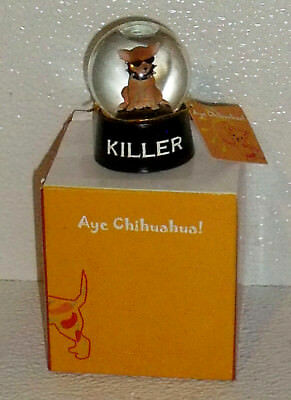 Westland Aye Chihuahua MINI Globe KILLER Water Snow Globe NEW In Box 2""