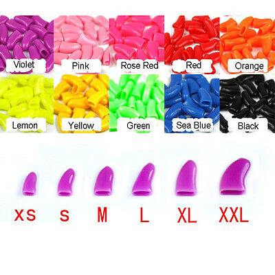 20 Pcs Simple Soft Rubber Pet Dog Cat Kitten Paw Claw Control Nail Caps Cover