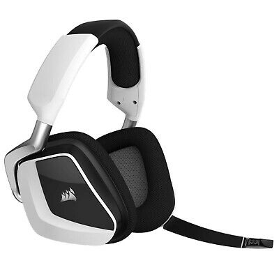 Corsair Void Pro RGB LED 7.1 Wireless Gaming Headset Headphones Mic PC Mac White