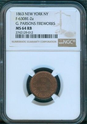 New York City Fireworks Merchant F-630BE-2a, NGC MS64 RB