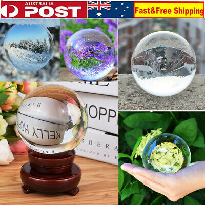 Clear Crystal Ball Magic Healing Meditate Sphere Photography 80 100 120mm+ Stand