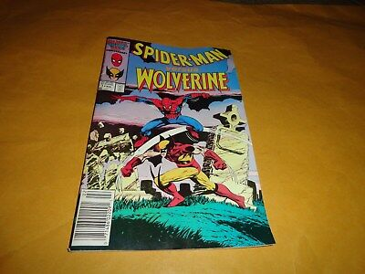 Spider-Man Versus Wolverine-Vol. 1, No. 1 1987 Comic Book...