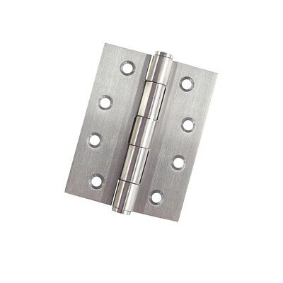Vinco 100x75x1.6mm Stainless Steel Fixed Pin Butt Hinge