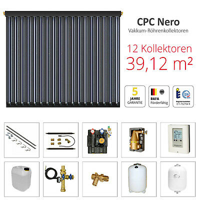 solarbayer röhrenkollektor paquet complet, CPC NERO Forfait solaire 12 (39,12m²)