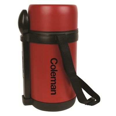 Coleman 1.5L Stainless Steel Flask with Food Container