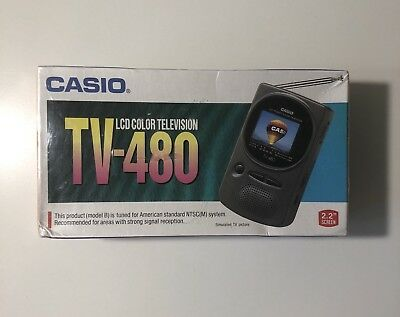 Casio TV-480BX LCD Pocket Color Television Analog NEW In Sealed Box Vintage