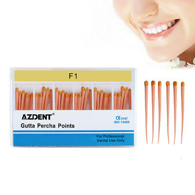 60 Pcs/Pack AZDENT Dental Gutta Percha Root-Canal Obturating Points F1