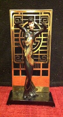 RARE Franklin Mint Mask Of The Dragon Lady Figurine Limited Edition #A1276 Brass