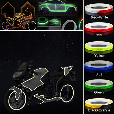 New 1 Roll Reflective Night Safety Warning Stripe Car Truck Tape Sticker 1cm*5m