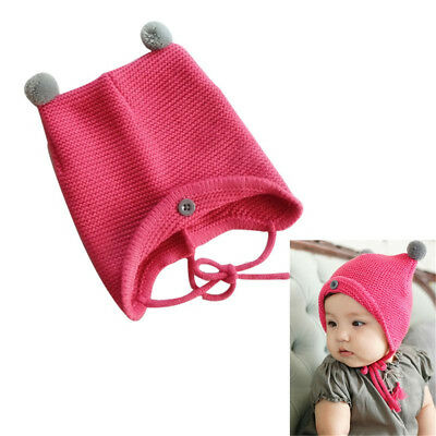 Fashion Baby Toddler Infant Autumn Winter Warm Wool Knitted Hat Comfortable Cap