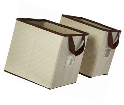 Delta Children 2 Piece Printed Storage Boxes, Beige