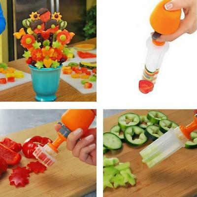 6pcs Fruit cutting tools Vegetable DIY Push and Pop Shaper Cutter New Tools