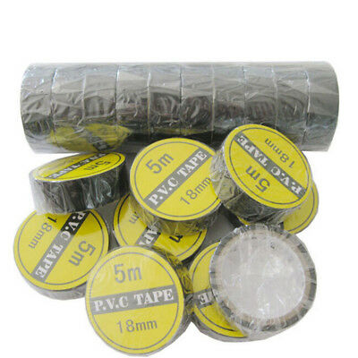 2Pc 3.5M Vinyl Electrical Tape Insulation Adhesive Tape Black Home Use Tools GY