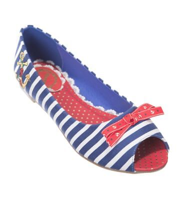 Banned Classic Nautical Stripe Evie Pump Shoes UK 3 REDUCED TO CLEAR LAST SIZE