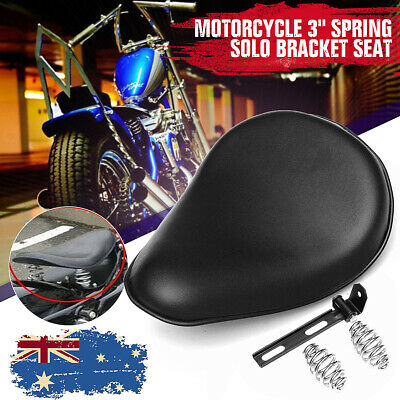Motorcycle SOLO Bracket Seat + 2Pcs 3'' Spring For Harley Chopper Bobber Custom