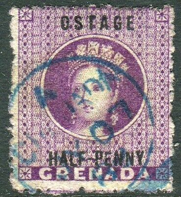 """GRENADA-1881 ½d Deep Mauve """"OSTAGE VARIETY"""".  A fine used example Sg 21c"""