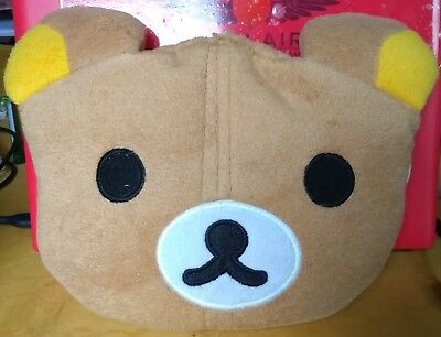 Rilakkuma Bear Head Cherry Pit Cushion Pillow Heat Child Adult 23x19 cm/ 9x8 in