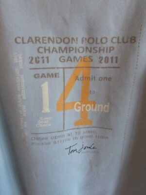 Tom Joule Lifestyle Hoodie Us 8 2011 Clarendon Polo Club Championship Graphics