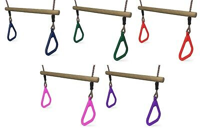 Swing Trapeze Bar for Kids Climbing Frames and Swing Sets - 4 Colours