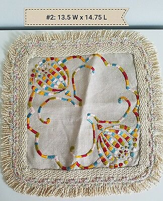 A4 Antique Doily Colorful Arts & Crafts Stickley Mission Home Table Decor