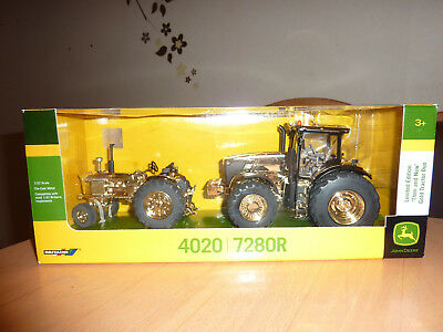 - Britains John Deere 4020+7280 R Gold Limited EditionThen and Now - Neu -
