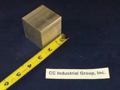 """2"""" x 2"""" x 2"""" ALUMINUM SOLID SQUARE STOCK 6061 T6511 - NEW MILL STOCK"""