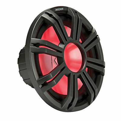 "KICKER 12"" LED Grille for Kicker KM12 and KMF12 Subwoofers (Charcoal) 45KMG12C"