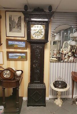 Antique longcase grandfather clock Hartley Halifax 1788