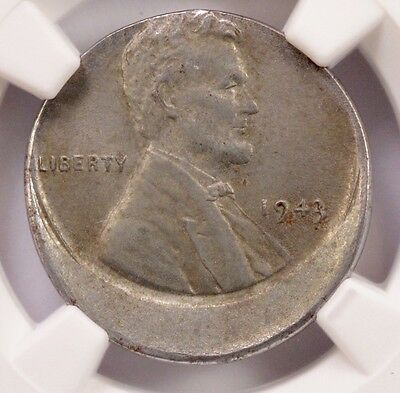 NGC 1c 1943 Lincoln Cent 15% Off-Center MS-63