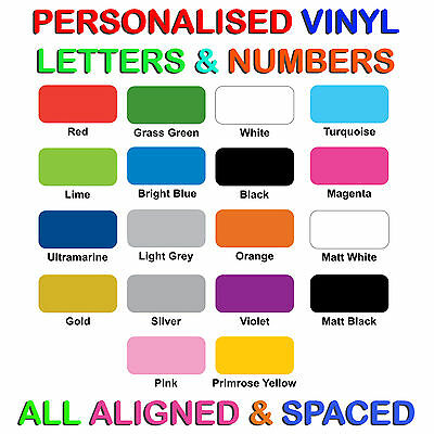 Vinyl letters & Numbers Personalised Shop Sign, Logo, Boat SSR. Van Stickers