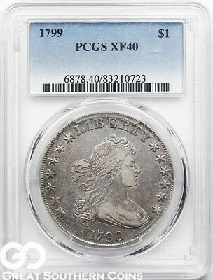 1799 PCGS Draped Bust Dollar PCGS XF 40 * Nice Strike Definition, Free Shipping!