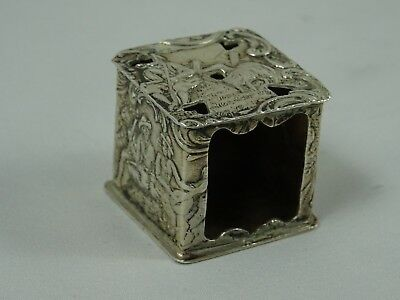 EDWARDIAN  solid silver BOX  c1900, 14gm