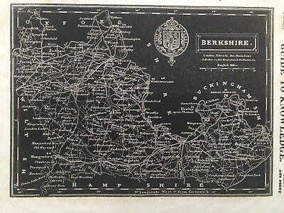 1834 Antique map - Berkshire - from Pinnock's Guide to Knowledge