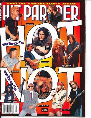 Hit Parader Magazine August 1995 Green Day Alice In Chains Guns N Roses Megadeth
