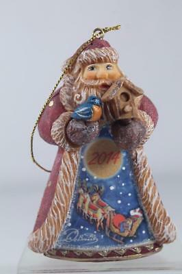 G. DeBrekht-Russia 'Santa With Blue Bird Dated 2014' Ornament New In Box!