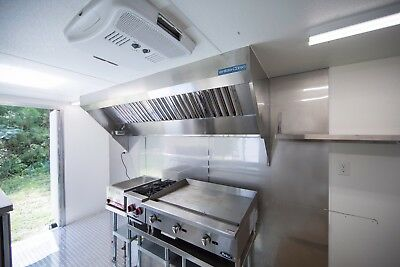 4' Food Truck Hood System with Exhaust Fan