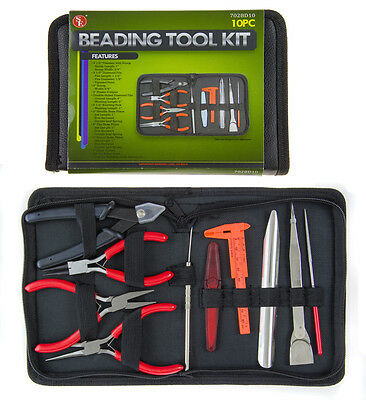 Beading Tool Kit 10 Pc Set Tools for Beaders Jewelry Making Jewelers Hand Tools!
