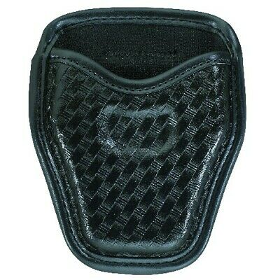 Bianchi Black 7934 Basketweave Accumold Elite Open Top Handcuff Cuff Case Pouch