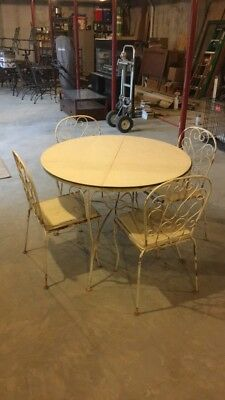 Mid Century Wroght Iron Dining Patio Set