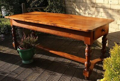 Large Antique French Fruitwood Farmhouse Table