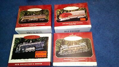 Lot of 4 NEW Hallmark Keepsake Christmas Ornament Lionel Trains Collector Series