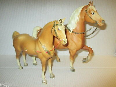 Two Vintage Model Horses 1 is Breyer Molding Co Palomino