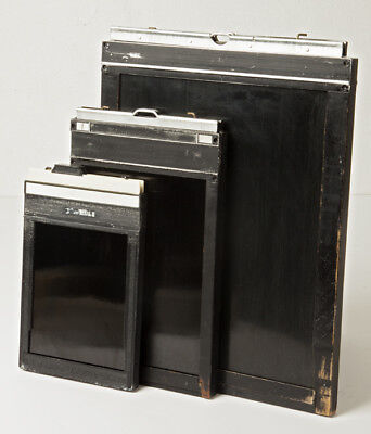 Film Holders 8 x 10, 5 X 7 and 4 X 5 a set of three.