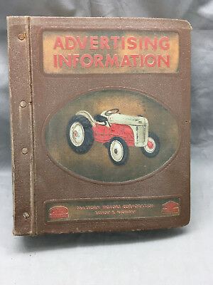 Vintage Ford Dearborn Advertising Information Binder Tractor 1957 Bulletins