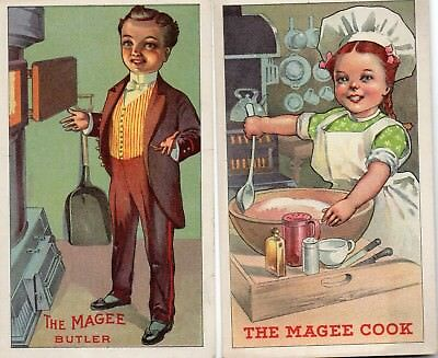 2 Trade cards, Magee Furnace Company